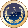 Gold Warranty (3 years labour and 2 years parts)
