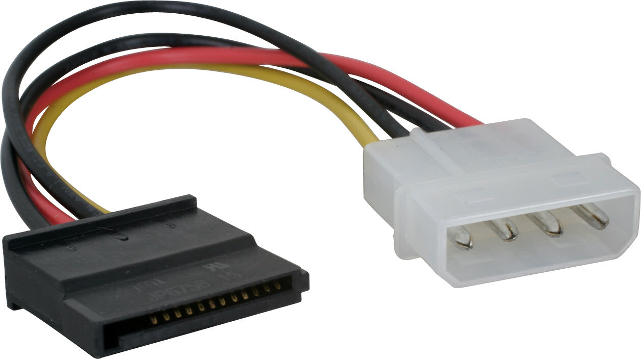 Molex Ide To Serial Ata Power Adapter Cable Single